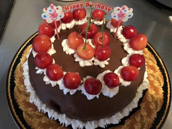 手作りケーキ♡チェリー&チョコversion